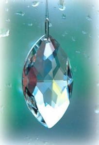 Crystal~Oval 38 Clear Swarovski  Rainbow Hanging Crystal-A stunning array of dancing light